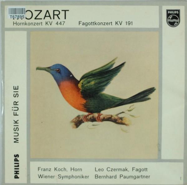 Wolfgang Amadeus Mozart, Franz Koch , Bernh: Hornkonzert KV 447 - Fagottkonzert KV 191