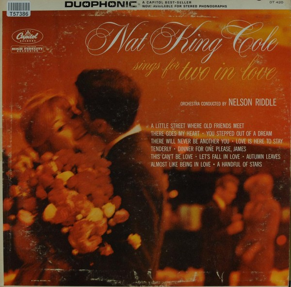 Nat King Cole Orchestra Conducted By Nelson Riddle: Sings For Two In Love
