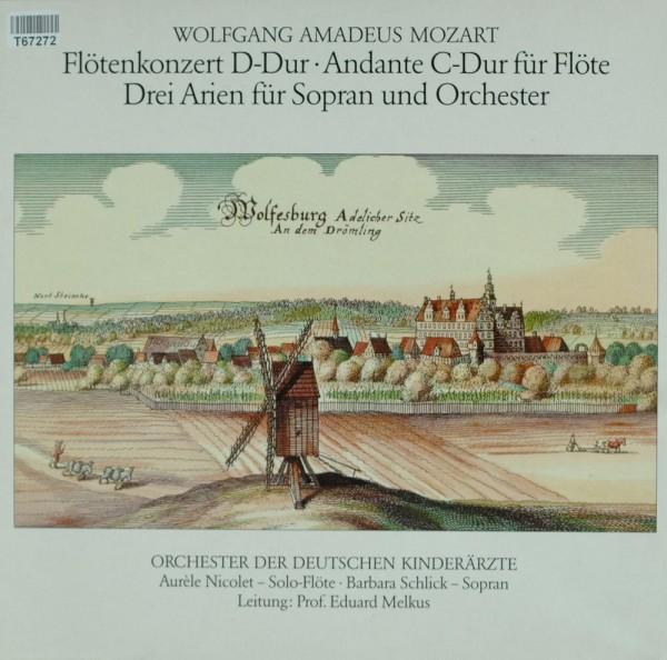 Wolfgang Amadeus Mozart, Orchester Der Deut: Flötenkonzert D-Dur • Andante C-Dur Für Flöte • Drei Ar
