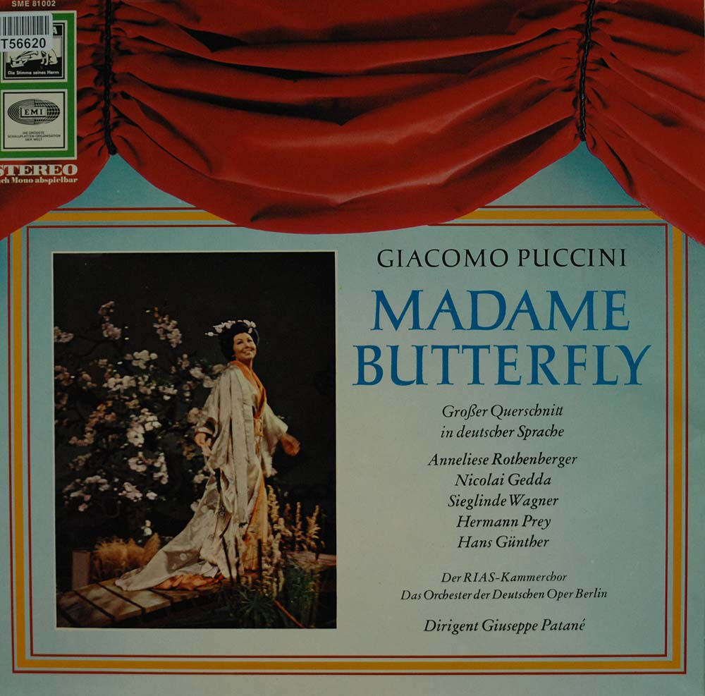 giacomo puccini madame butterfly querschnitt oper operette klassik gebrauchte lps und. Black Bedroom Furniture Sets. Home Design Ideas