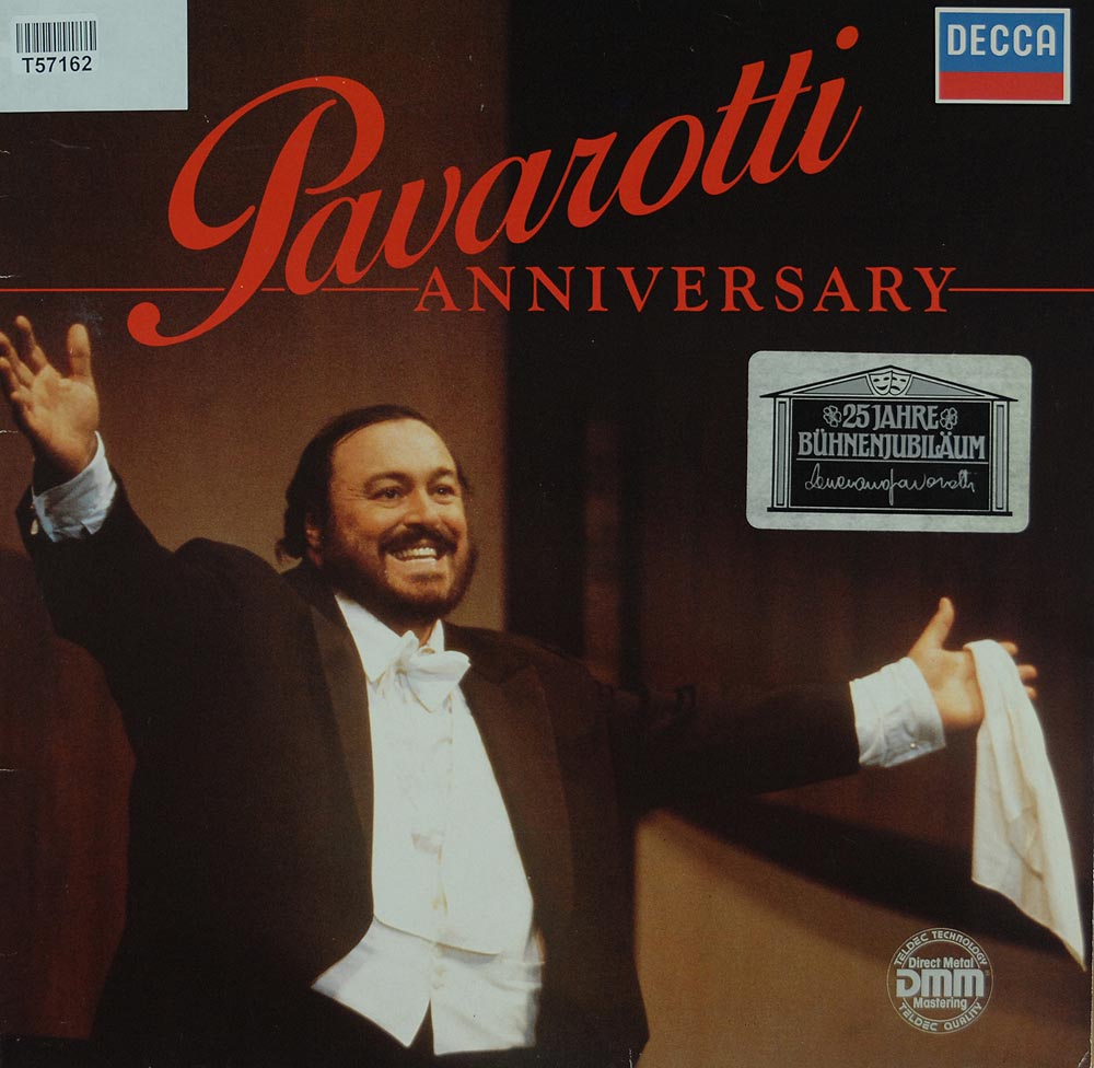 luciano pavarotti anniversary lieder arien klassik gebrauchte lps und cds kaufen. Black Bedroom Furniture Sets. Home Design Ideas