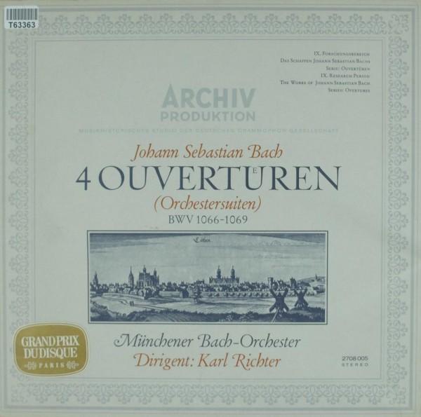 Johann Sebastian Bach - Münchener Bach-Orchester / Dirigent: Karl Richter: 4 Ouvertueren (Orchesters