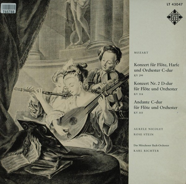 Wolfgang Amadeus Mozart - Münchener Bach-Or: Konzert Für Flöte, Harfe Und Orchester C-dur - Konzert