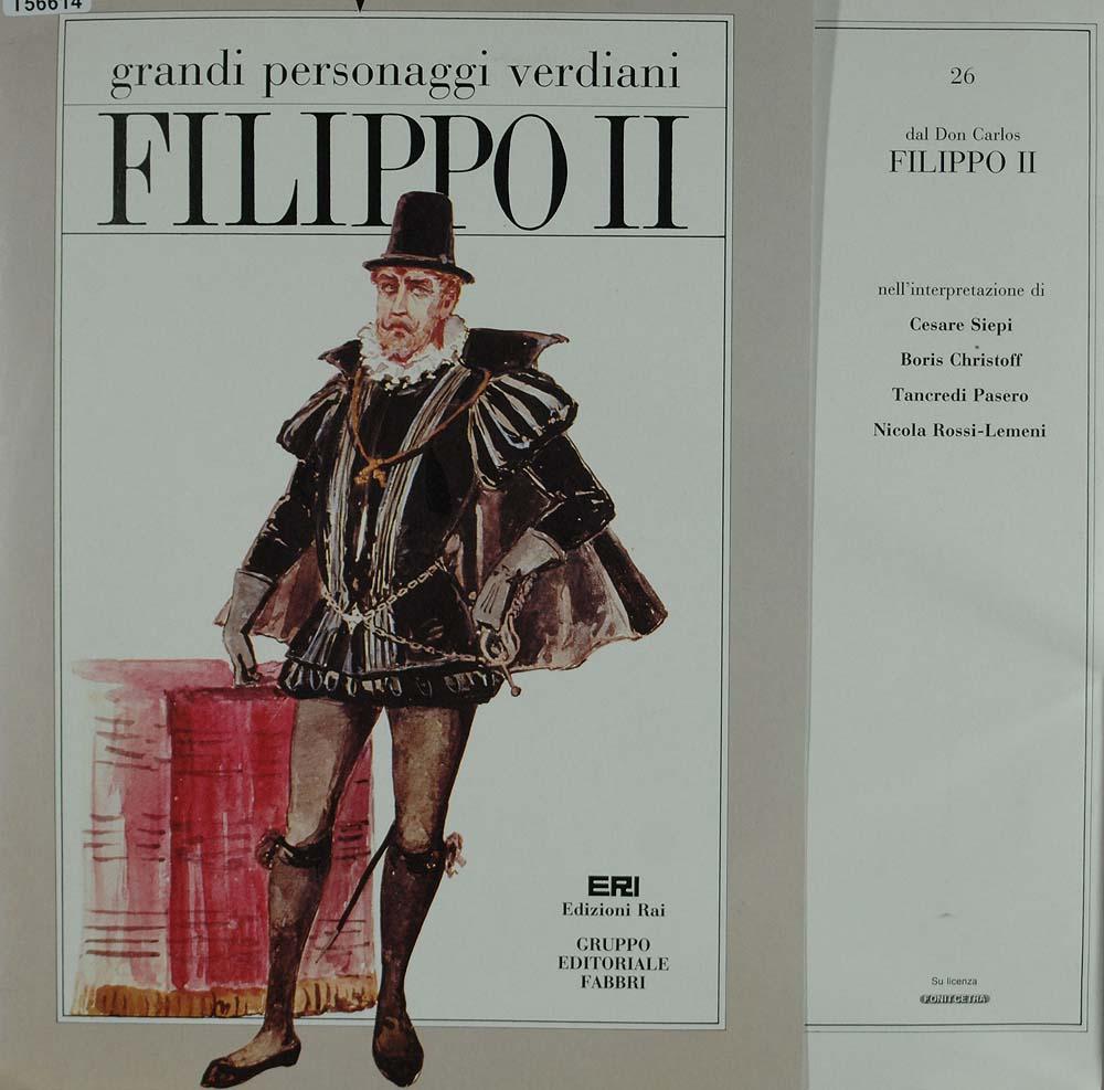 giuseppe verdi filippo ii oper operette klassik gebrauchte lps und cds kaufen. Black Bedroom Furniture Sets. Home Design Ideas