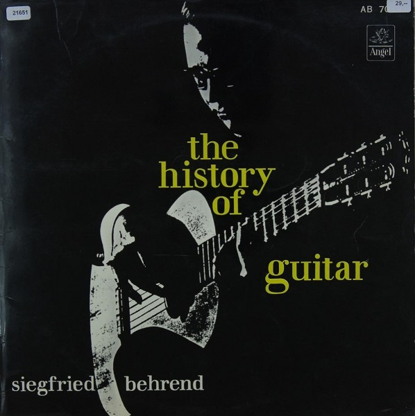 Behrend, Siegfried: The History of Guitar