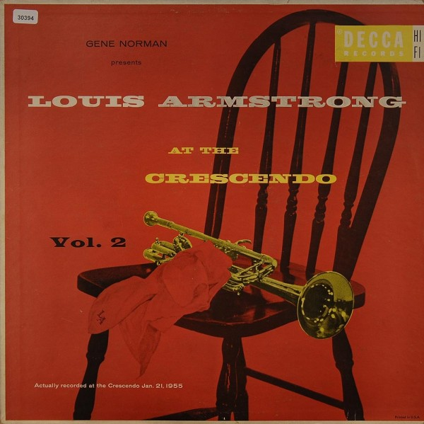 Armstrong, Louis: At the Crescendo Vol. 2