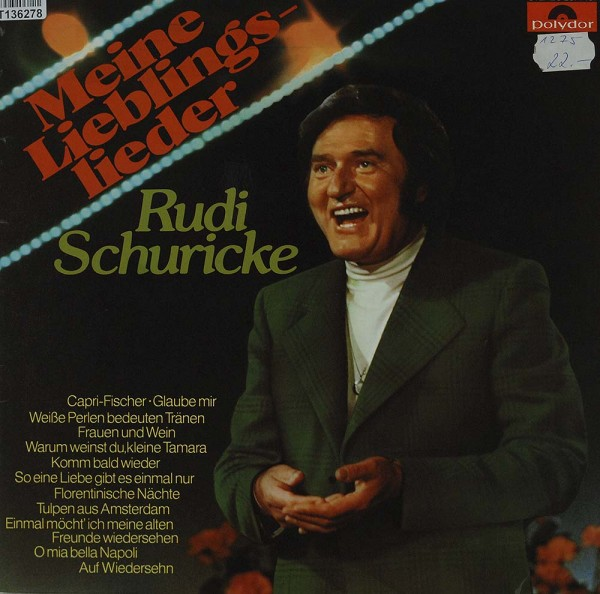 Rudi Schuricke: Meine Lieblingslieder
