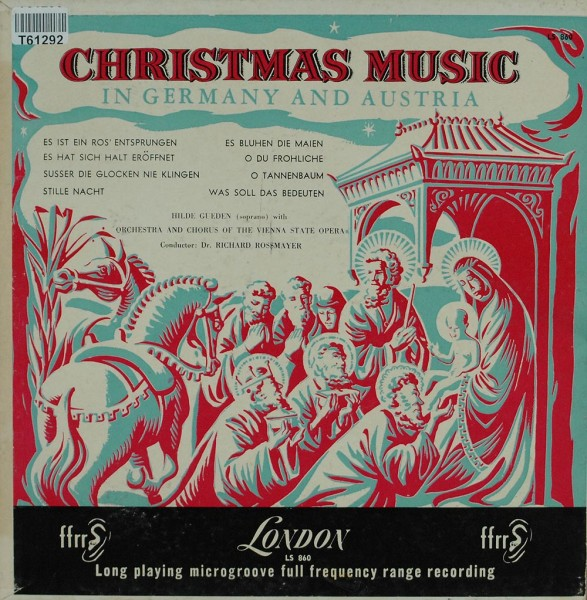 Hilde Güden, Orchestra And Chorus Of The Vienna State Opera: Christmas Music In Germany And Austria