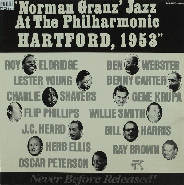 Various: Norman Granz' Jazz At The Philharmonic Hartford, 1953