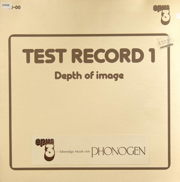 Various: Test Record 1 - Depth of Image