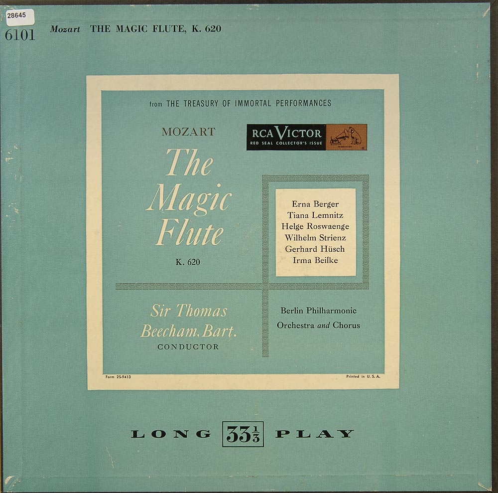 mozart the magic flute fl ten oboen holzbl ser klassik gebrauchte lps und cds kaufen. Black Bedroom Furniture Sets. Home Design Ideas