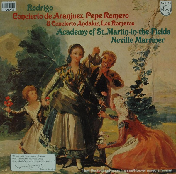 Joaquín Rodrigo — Pepe Romero & The Romeros - The Academy Of St. Martin-in-the-Fields, Sir Neville M