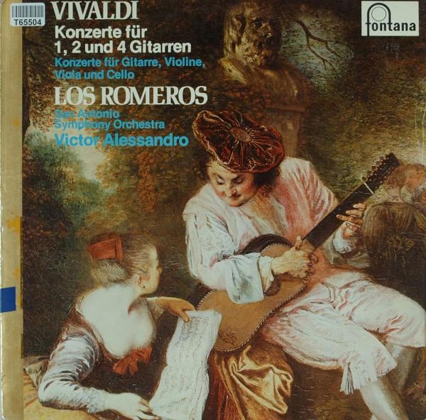 The Romeros, San Antonio Symphony Orchestra: Vivaldi - Konzerte Für 1, 2 Und 4 Gitarren