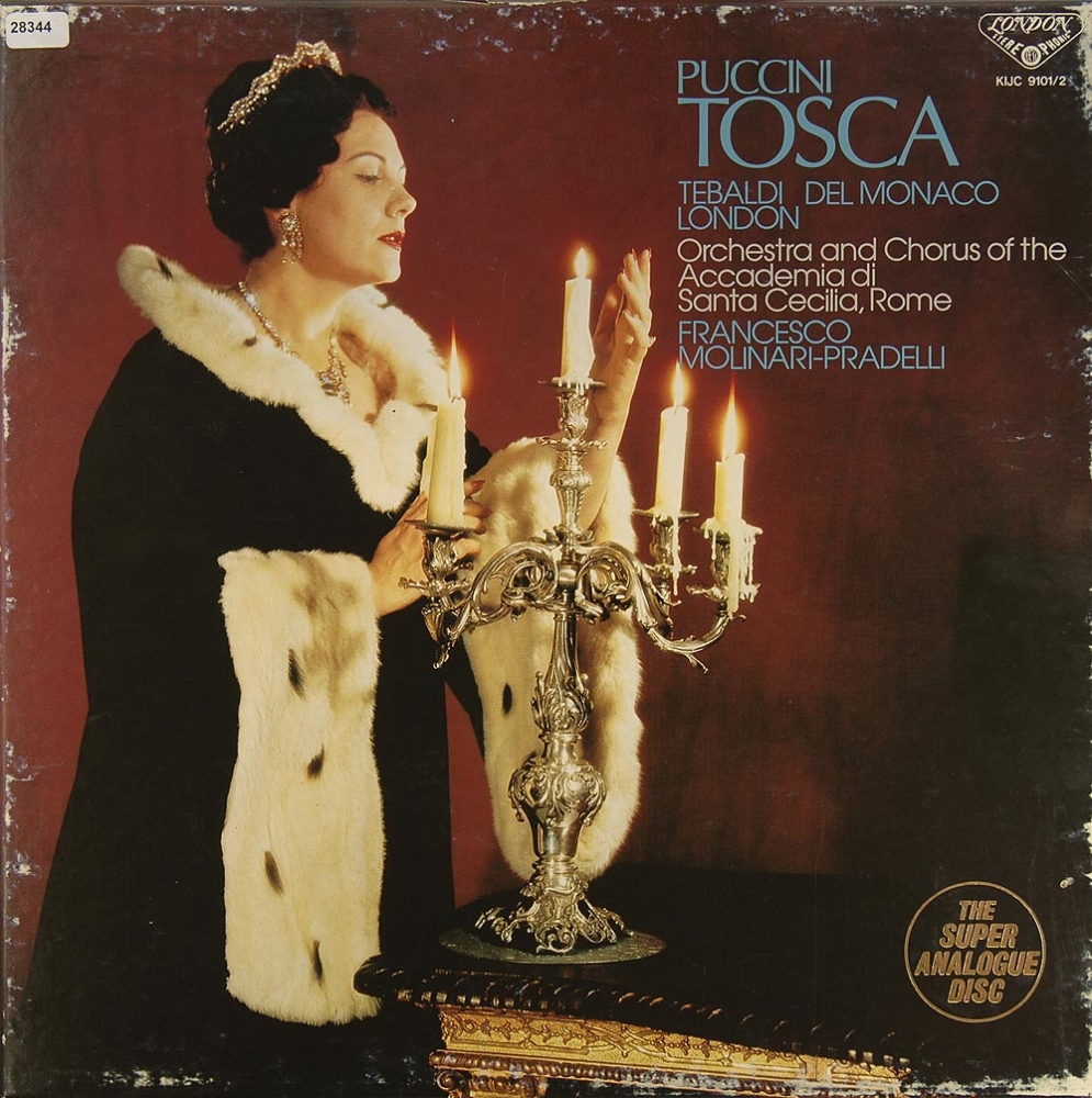 puccini tosca oper operette klassik gebrauchte lps und cds kaufen. Black Bedroom Furniture Sets. Home Design Ideas