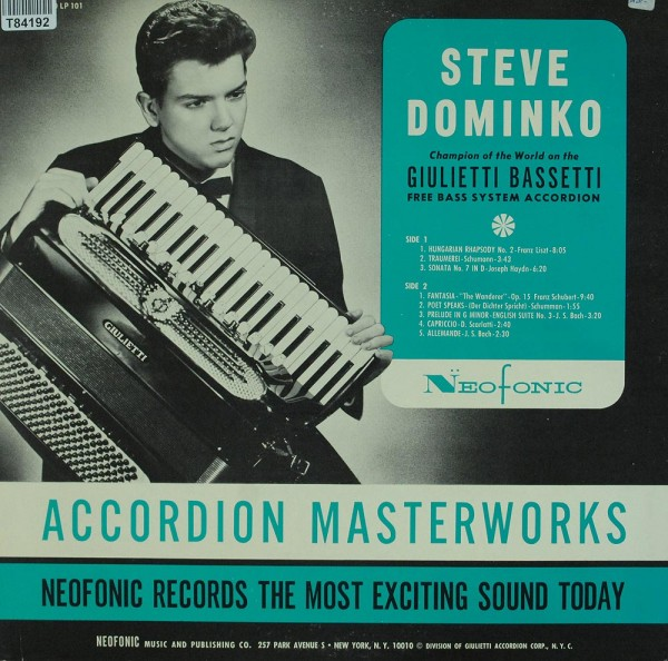 Stephen Dominko: Accordion Masterworks