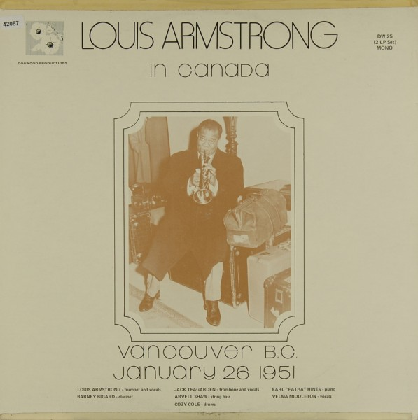 Armstrong, Louis: In Canada - Vancouver Jan. 26 1951