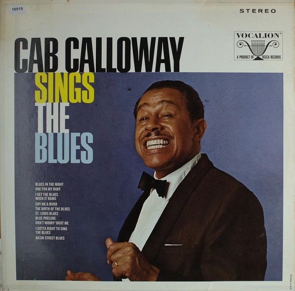Calloway, Cab: Cab Calloway sings the Blues