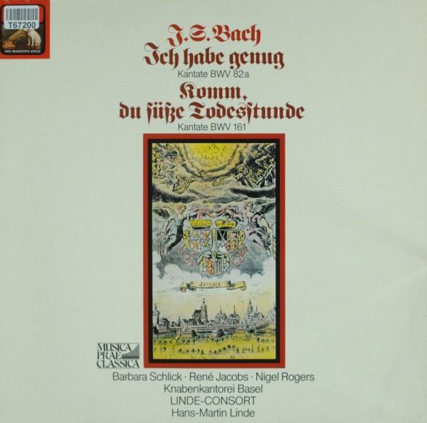 "Barbara Schlick, René Jacobs, Nigel Rogers : Kantate BWV 82a ""Ich Habe Genug""/ Kantate BWV 161 ""Komm"