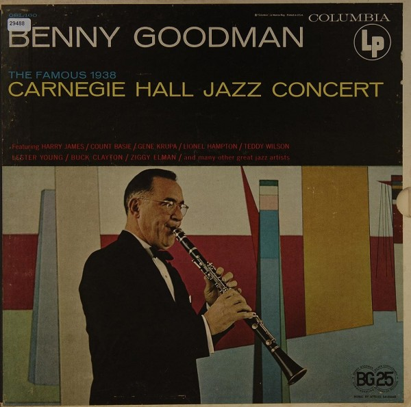 Goodman, Benny: The famous 1938 Carnegie Hall Concert